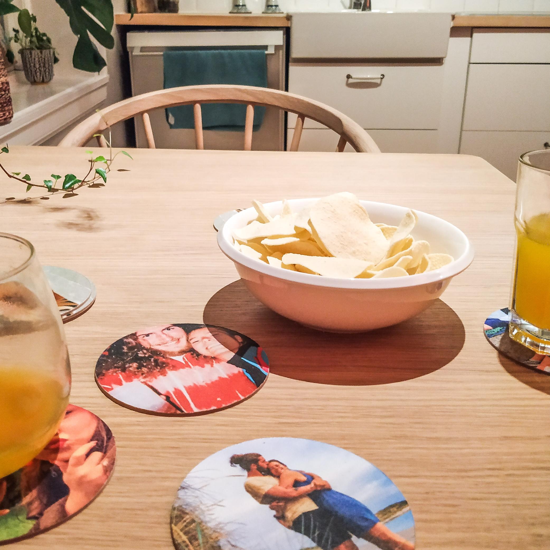 personlige drikkebrikker, ølbrikker, glassbrikker med bilder