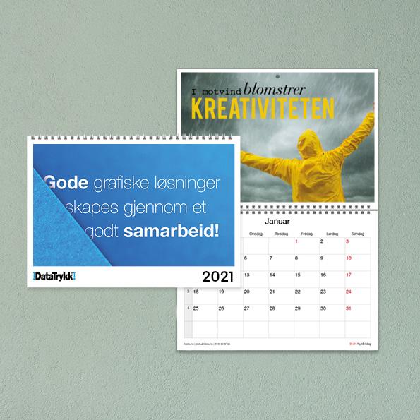 kalender med logo fra Fotofix, kalender med bilder