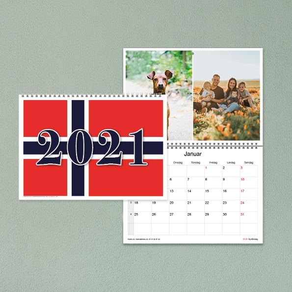 Norgeskalender fra Fotofix, kalender med bilder