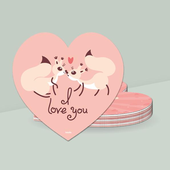 Valentines day, alle hjerters dag. drikkebrikker