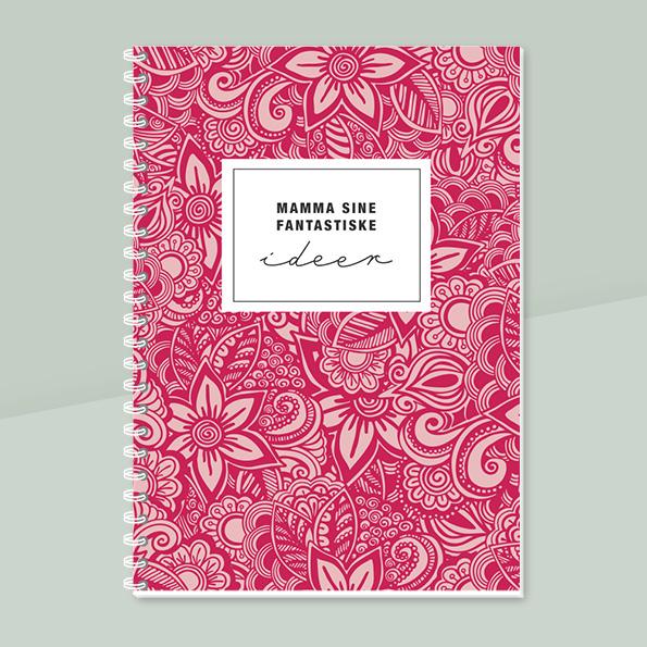 Notatbok, personlig notatbok, morsdag, fotofix